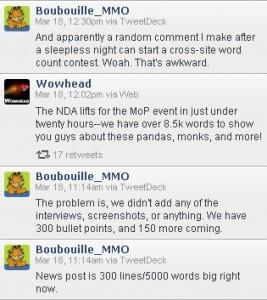 Twitter Nachrichten von MMO-Champion und Wowhead
