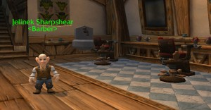 Barber's shop in Stormwind Citiy