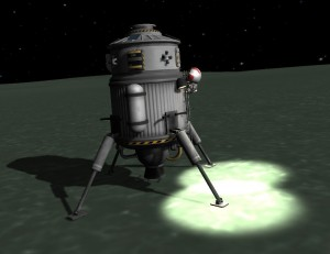 Successful landing on Minmus