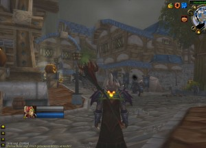Empty market place in Stormwind