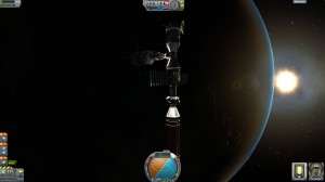 Supply Station in orbit
