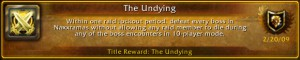 An achievement in World of Warcraft.