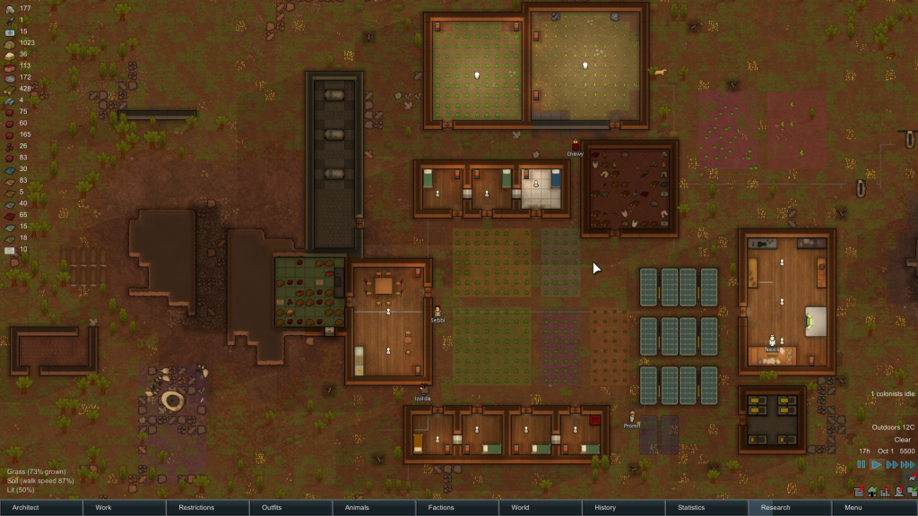 A RimWorld colony.